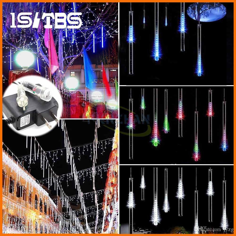 Dize işıklar 20 CM 30 CM 50 CM Meteor Yağmuru Yağmur Tüpleri AC100-240V LED Noel Işıkları Düğün Bahçe Noel Dize Işık Açık