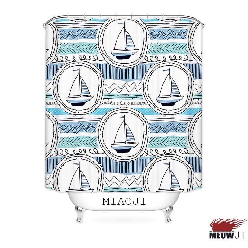 [Miaoji] design nordique motif géométrique haut de gamme rideau de douche multi-tailles de bain Rideau Home Decor Livraison gratuite