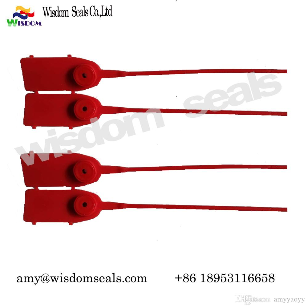Adjustable length pull tight Plastic Seal Security Seals bags courier bags cash bags tanks, lockers, tote boxes, containers