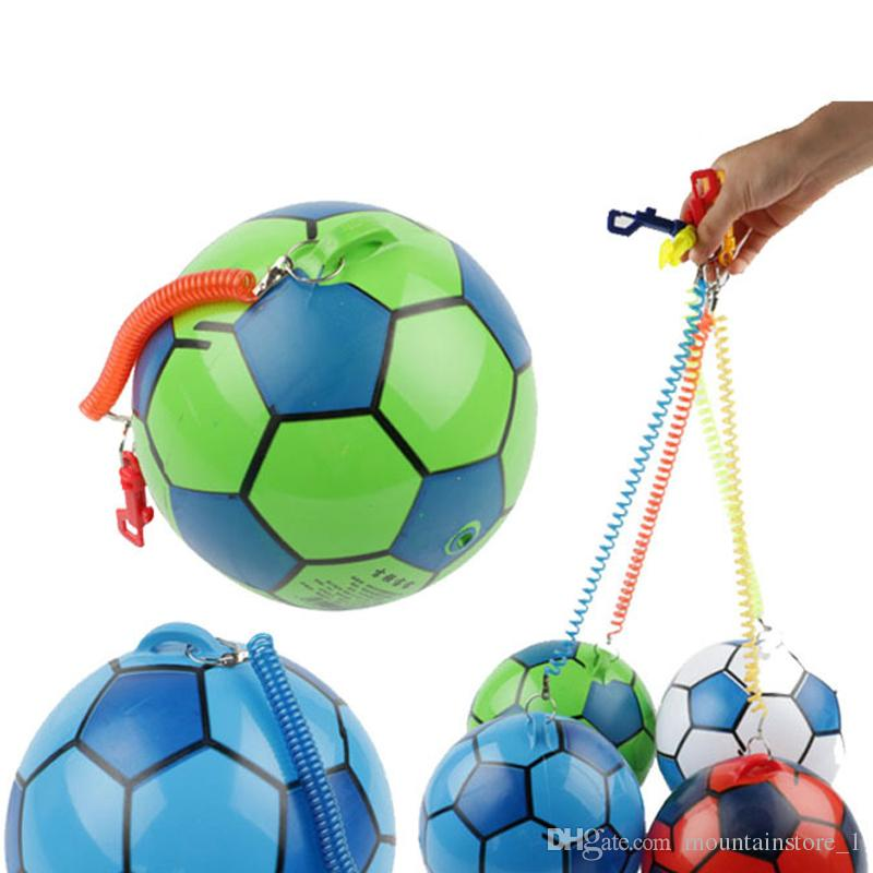 20cm PVC Inflatable Training Soccer with Chain Swimming Pool Football Play Water Game Balloons Beach Party Sport Kids Toys