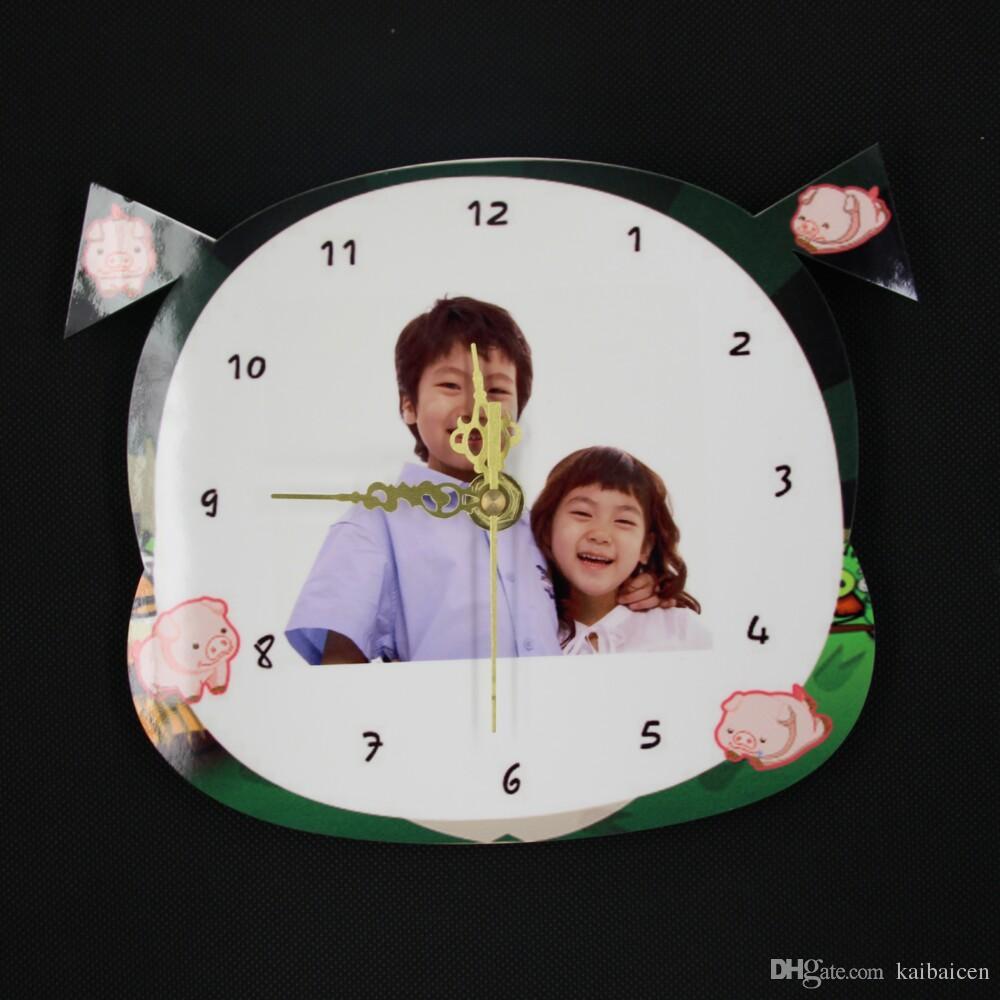 패션 DIY 승화 열 전송 프레스 기계 선물에 대 한 빈 MDF 12 궁도 시계 시계