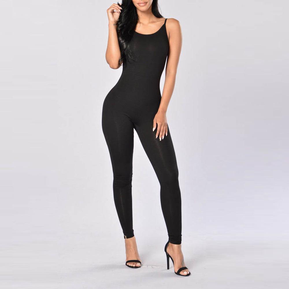 Ante de las mujeres de Bodycon Bodysuit mamelucos de las mujeres del partido atractivo del verano elegante sin mangas del mono de una pieza Trajes Trajes Playsuit