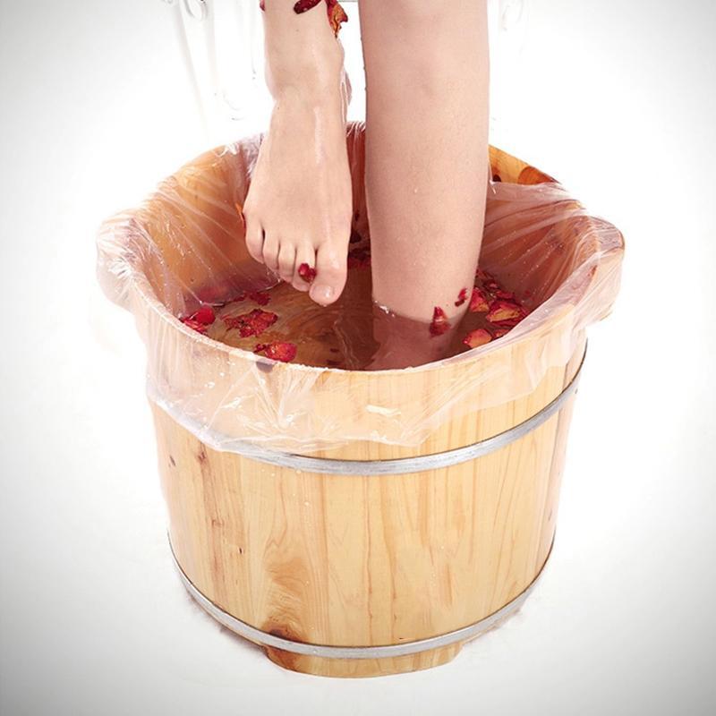 90 piezas desechables de la Cuenca del pie tina de baño Revestimientos Bolsas para spa para pies 65 * 50cm de pedicura Cuidado de la Salud de pedicura accesorios sanitarios