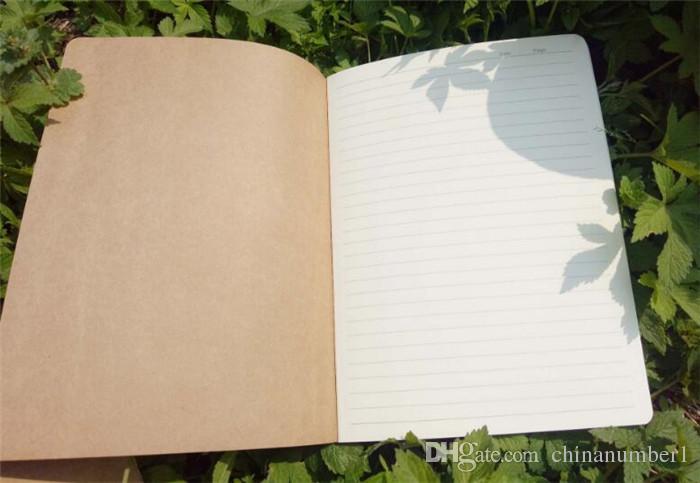 300 قطع جلد البقر ورقة دفتر فارغ المفكرة كتاب خمر لينة الدفتر المذكرات اليومية كرافت غطاء مجلة الدفاتر c143