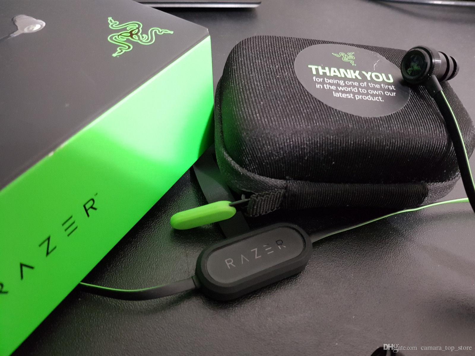 Wireless Razer Hammerhead V2 BT Bluetooth in ear earphones With Microphone With Retail Box In Ear Gaming headsets Noise cancel Stereo Bass