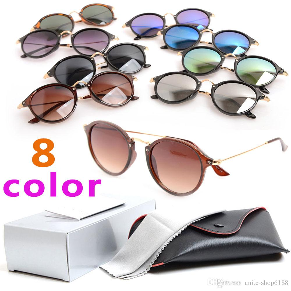 8 color New Style 2447 Sun glasses Mans Womans Sunglasses resin Lens Fashion Brand Designer sunglasses Unisex glasses with case and box