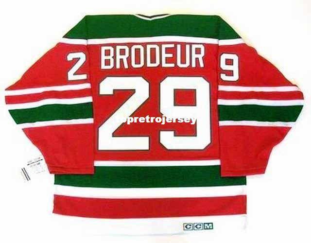 Wholesale Mens MARTIN BRODEUR New Jersey Devils 1992 CCM Vintage Cheap Retro Hockey Jersey