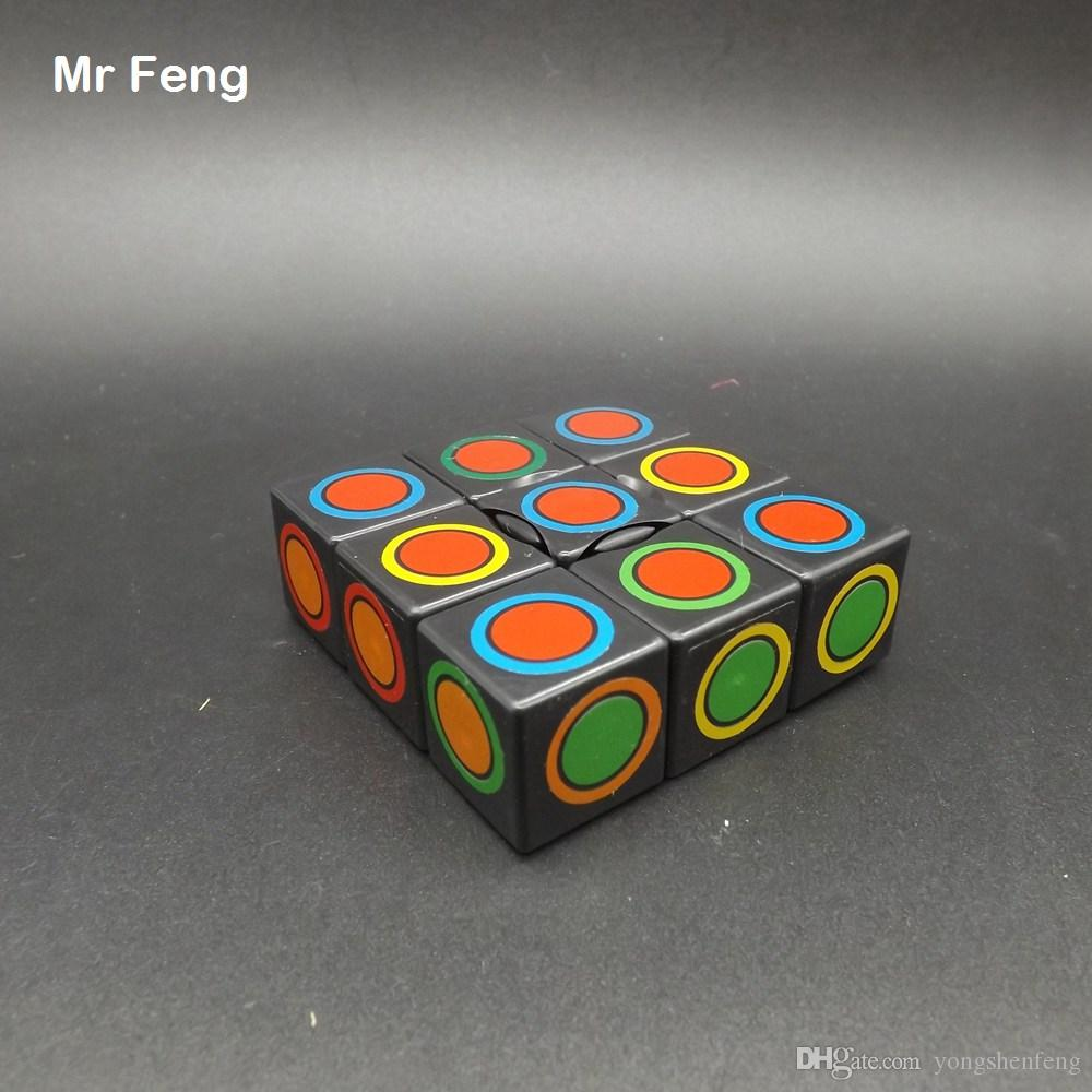 Black One Layer Strange Magic Cube Twist Puzzle Brian Mind Toys Intelligence Game Toys For Children ( Model Number M133BSXR )