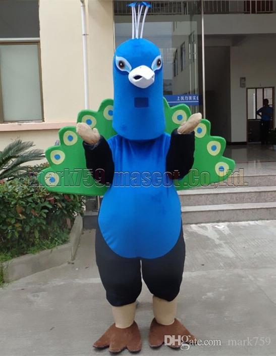 el tamaño adulto del envío libre del traje de la mascota del pavo real, el partido de lujo del carnaval del juguete de la felpa de la mascota de peahen celebra ventas de la fábrica de la mascota.