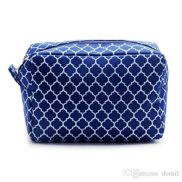 "Quatrefoil Makeup Bag Wholesale Blanks 8.5 ""* 6.0""* 3.75 ""화장품 가방 무료 배송 액세서리 가방 DOMIL106011"