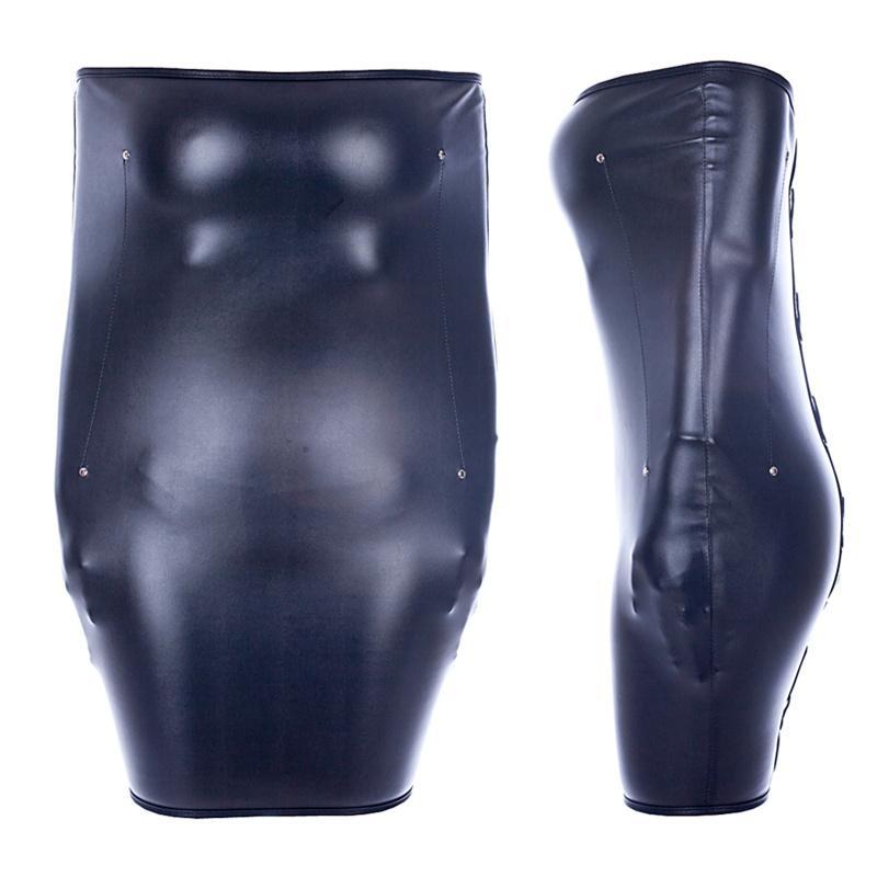 MaryXiong Adult Game Juguetes Eróticos BDSM Bondage Restraints Pu de cuero de la PU Esposas Sexy Straitjacket Momia Bag Juguetes Sexuales para Mujer