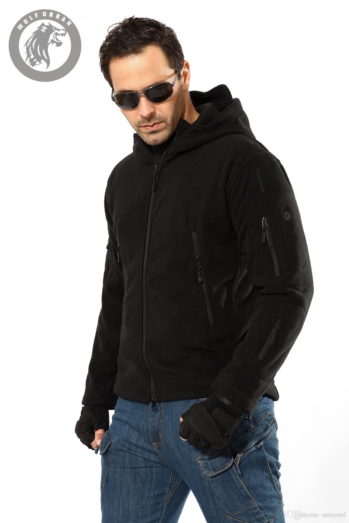 Männer Military Jacke Cool Coat wasserdichte taktische Jacke Winter Softshell Jagd Jacken Army Hooded Windbreaker Multi Reißverschlusstasche