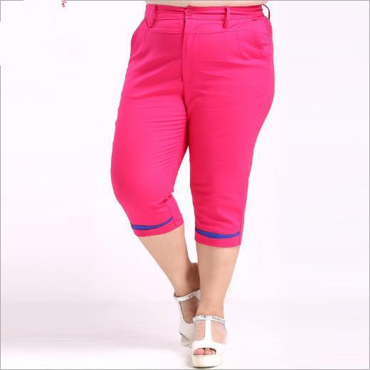 Pantalones grandes de las mujeres 2018 mujeres del verano de la túnica Pantalones capris hasta la pantorrilla Mujer tallas grandes 4XL-10XL Pantalones Sexy cadera delgada para las mujeres M247