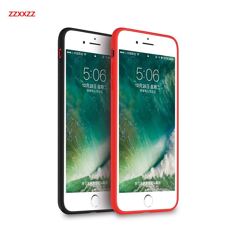 Pour Iphone8 anti-chute et anti-gris cas de téléphone, cet étui iphone8 est un matériau en silicone liquide est plus résistant à la chute