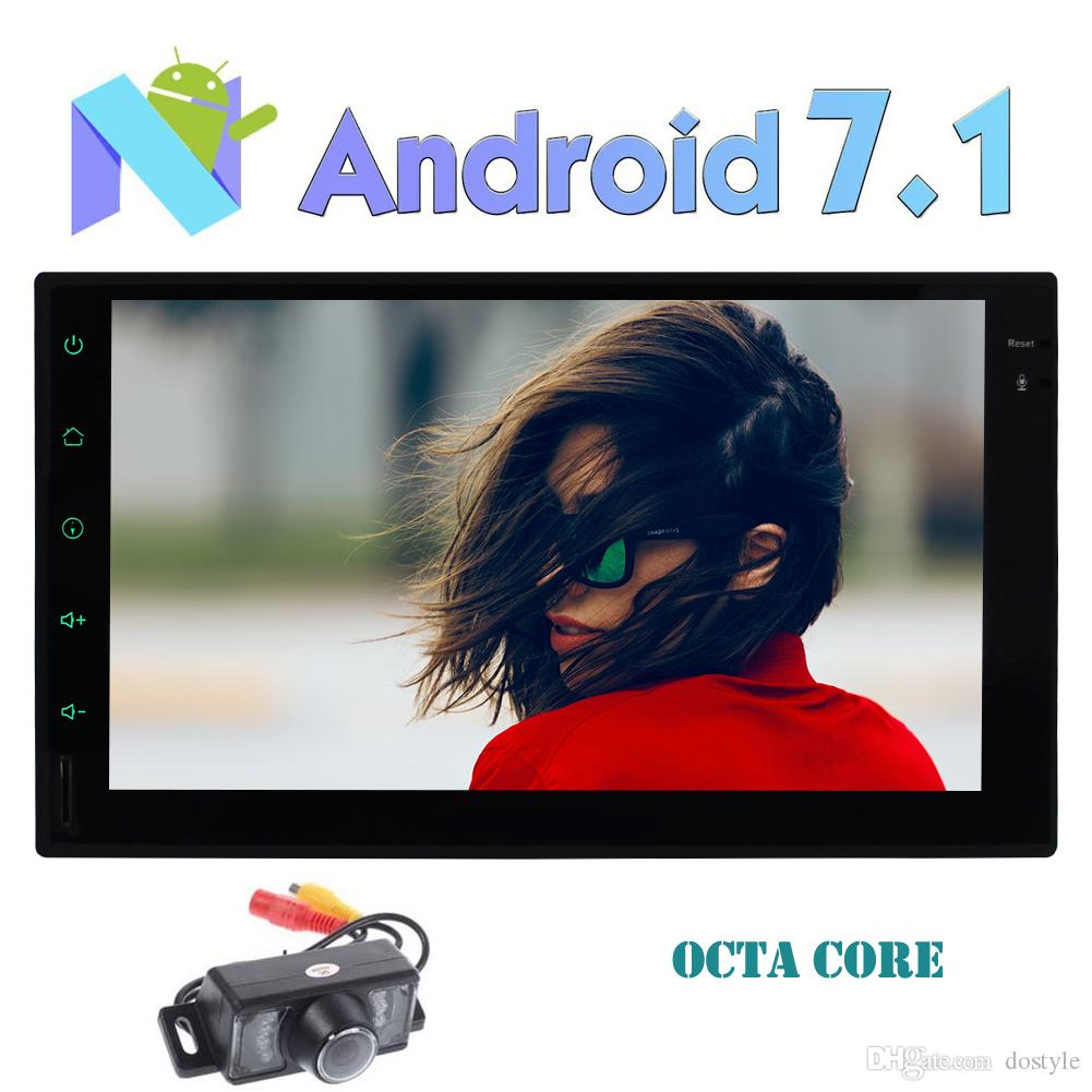 Double Din EinCar Android Car Stereo Octa Core 7.1 Nougat 2GB 32GB System 7'' TouchScreen Car Multimedia Radio Receiver In Dash Headunit