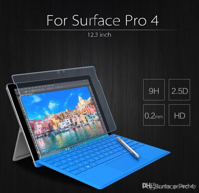 """Premium Tempered Glass Screen Protector Film For Microsoft Surface Pro 4 12.3/"""""""