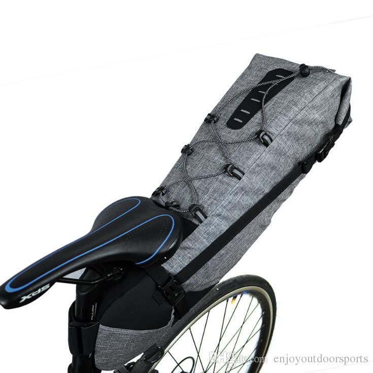 Wodoodporna rowerowa torba siodełkowa 12l rowerowa ogon z tyłu torba na siedzenie MTB akcesoria do rowerów o dużej pojemności rower z tyłu Pannier Etui 8T6RW