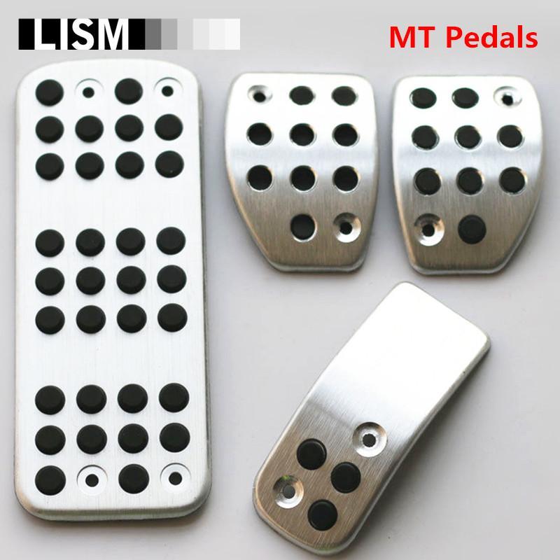 MT Reposapiés Frenos Gas Coche Pedal Pad Placa para DS3 DS4 DS6 C3 C4 DS 3 4 6 para 207 301 307
