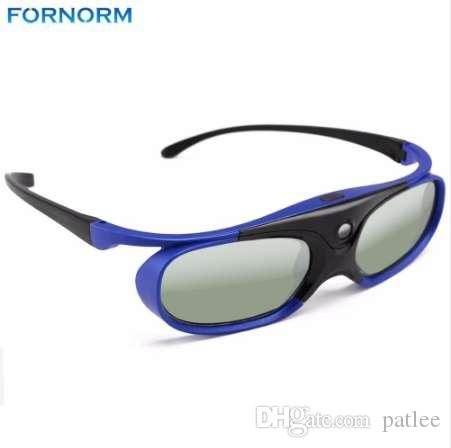 Fornorm Original Active Shutter Rechargable 3D Glasses 1pc for Xgimi Z3 / Z4 / H1 Nuts G1 / P2 BenQ Acer All DLP LINK Projector