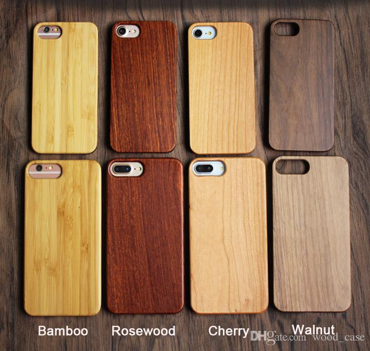 Gorgeous Universal Wood Cell phone Cases For Iphone 6 6s 7 8 plus X 5 5S SE Popular anti-shock Bamboo Wooden Hard Cover For Samsung Galaxy