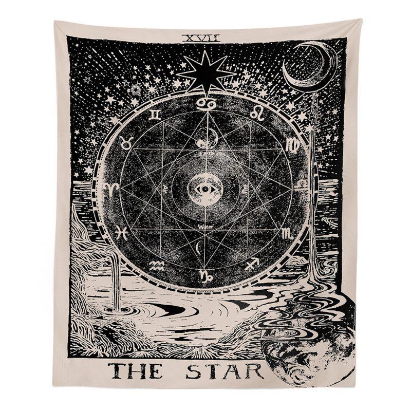 1 قطع 150x130 سنتيمتر المفروشات غطاء التارو نمط الجدار شنقا نسيج كبير السحرية القمر الشمس المطبوعة المفرش للمنزل نوم
