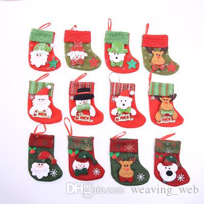 Christmas Stocking Chrismas tree Decoration children gift bag Sock for Home Christmas Tree Ornaments Gift Holders