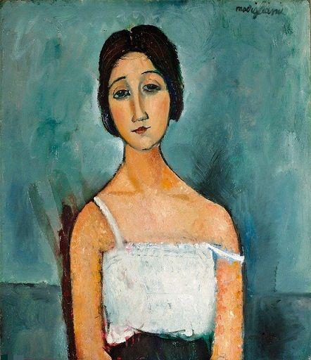 Amedeo Modigliani Christina Handpainted HD Baskılı Özet Portre Sanat yağlıboya Yüksek Kaliteli Tuval Duvar Sanatı Üzerinde p373