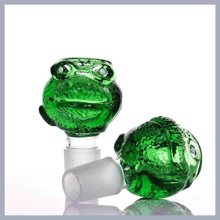 Otros accesorios para fumar Nuevos Llegan tazones para bongs Color Colorful Snake Head Bowl 1418mm Tamaño de tamaño grueso pesado G.O.G