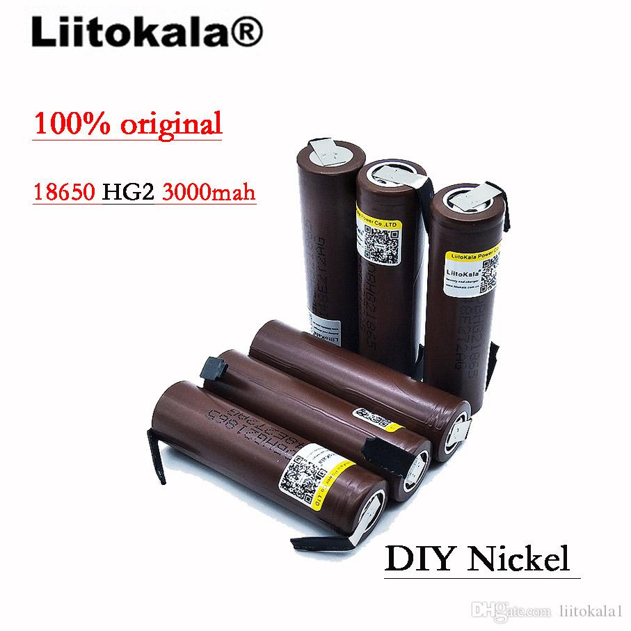 Liitokala New 18650 batteria da 18650 3000 mAh 18650HG2 3.6V scarico 20A, dedicato per le batterie LG + nichel fai-da-te