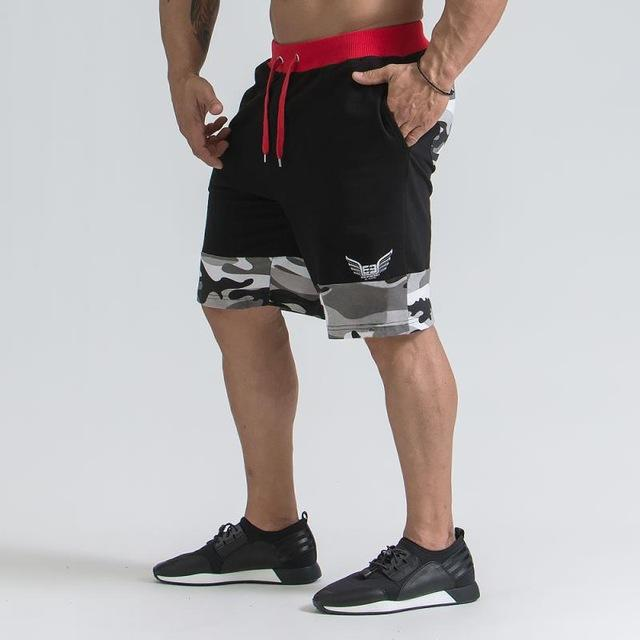 Мужские Бодибилдинг Шорты Фитнес-Тренировки 3 Внутренний Шов Снизу Хлопок Мужской Моды Случайные Короткие Брюки Брендовая Одежда ММА Муай Тай Новый