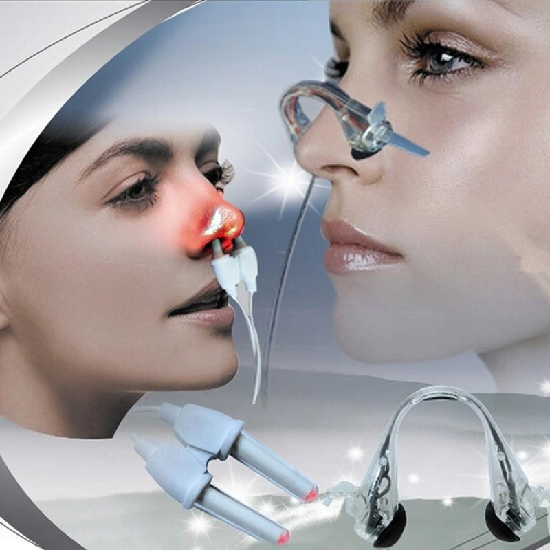저주파 2 in 1 레이저 + 펄스 비염 치료 Anti-snore clip cure 부비동염 치료 마사지 알레르기 통증 완화제