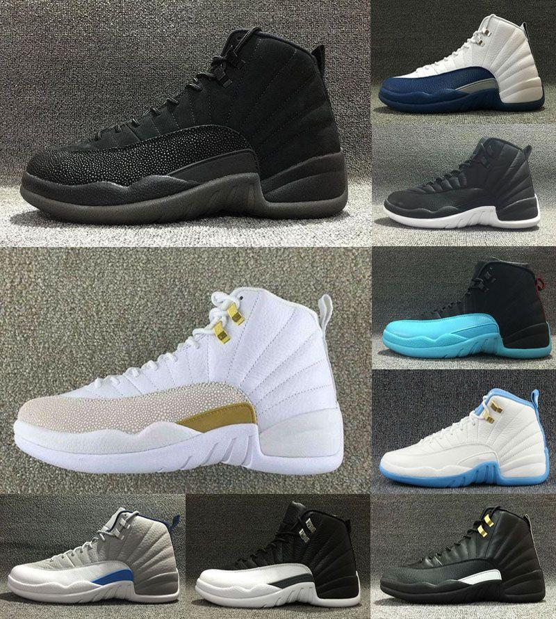 Venta al por mayor 12 zapatos de baloncesto de lana Deep Loyal Blue 12S Negro blanco Gym Red Flu Game Shoes US5.5-13
