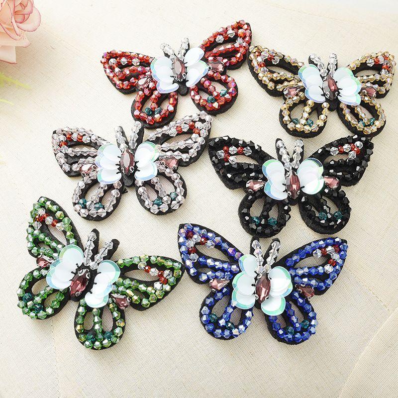 모조 다이아몬드 나비 applique 패치 신발 장식 장식품 가방 의류 모자 장식 옹호 매력