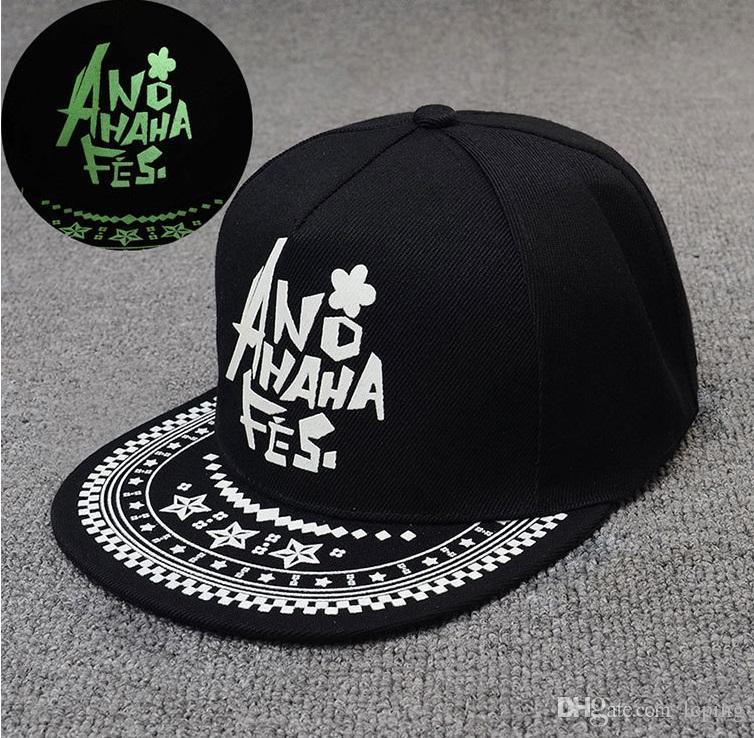 One Piece Luminous cap Fluorescent cap Fashionable personality hip-hop hat designer hat Caps Mens hat women Baseball Caps top quality
