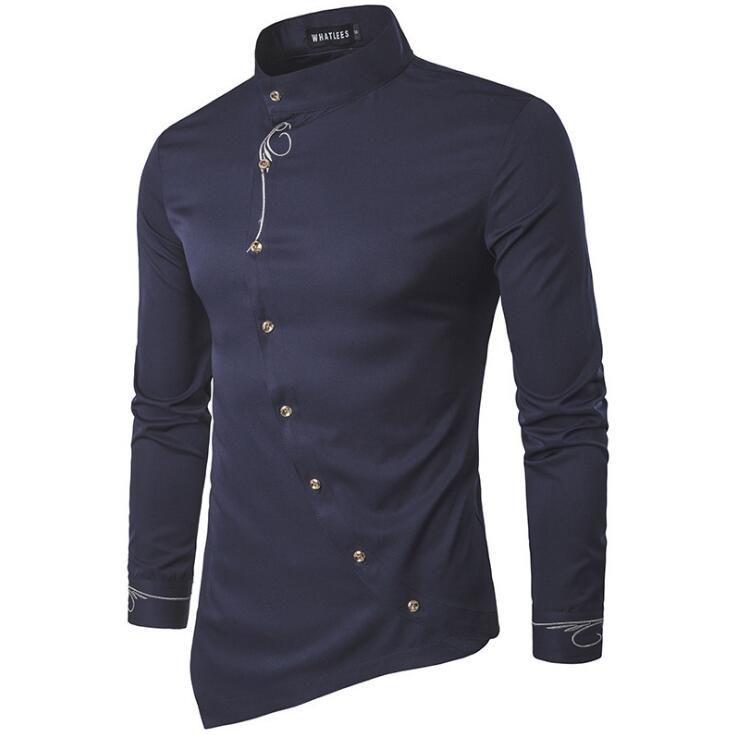 Camisa de hombre Diseñador Nuevos Hombres Camisa casual Manga larga Casual Slim Fit Camisas masculinas