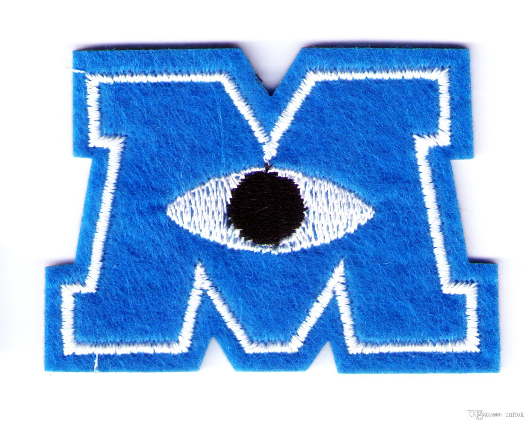 2020 Blue Monsters Inc M Logo Mike One Eye Embroidered Woven Iron On Patch From Unitok 17 29 Dhgate Com