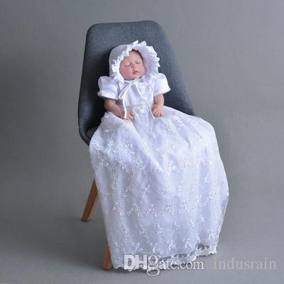 Baby Girl Lace Dress Extra Long Christening Dress Ivory and White 1 Year Birthday Baby Girl Baptism