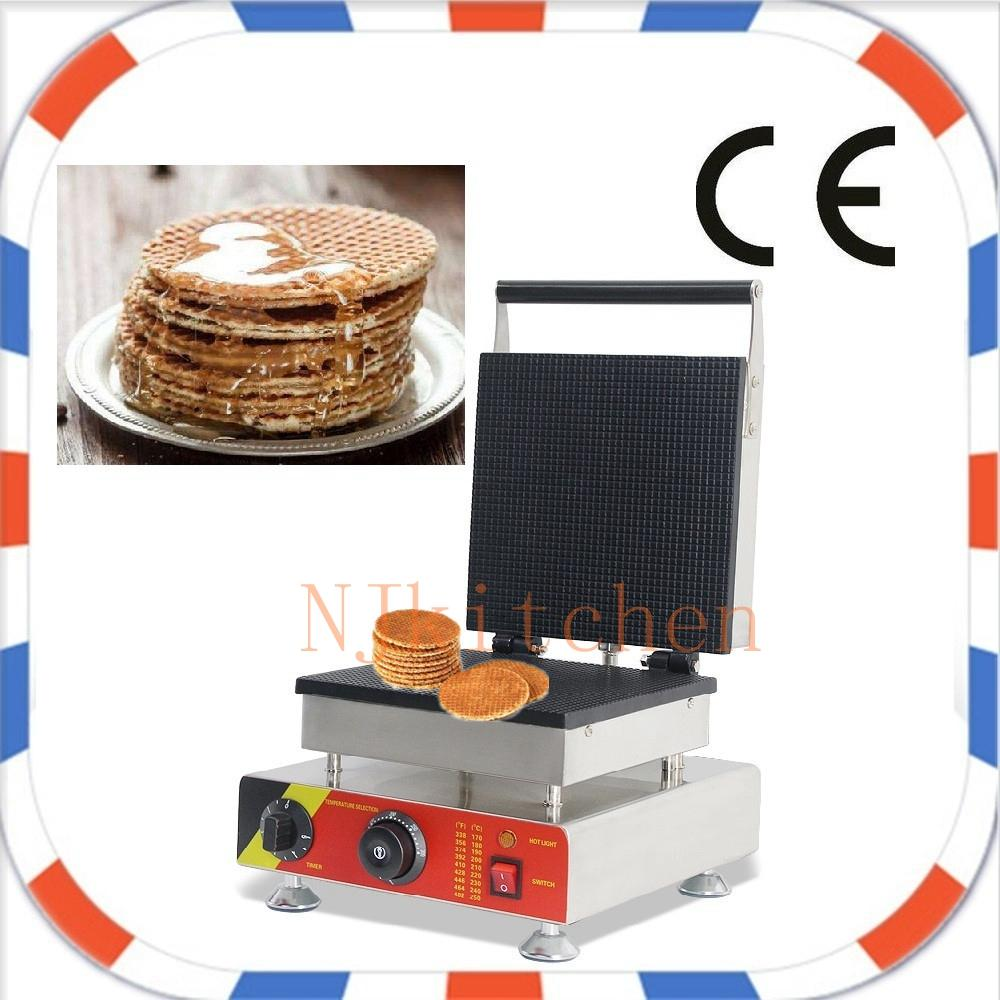 Бесплатная доставка Заводская поставка коммерческое использование 110 в 220 В stroopwafel вафельный конус чайник Железный пекарь машина плесень