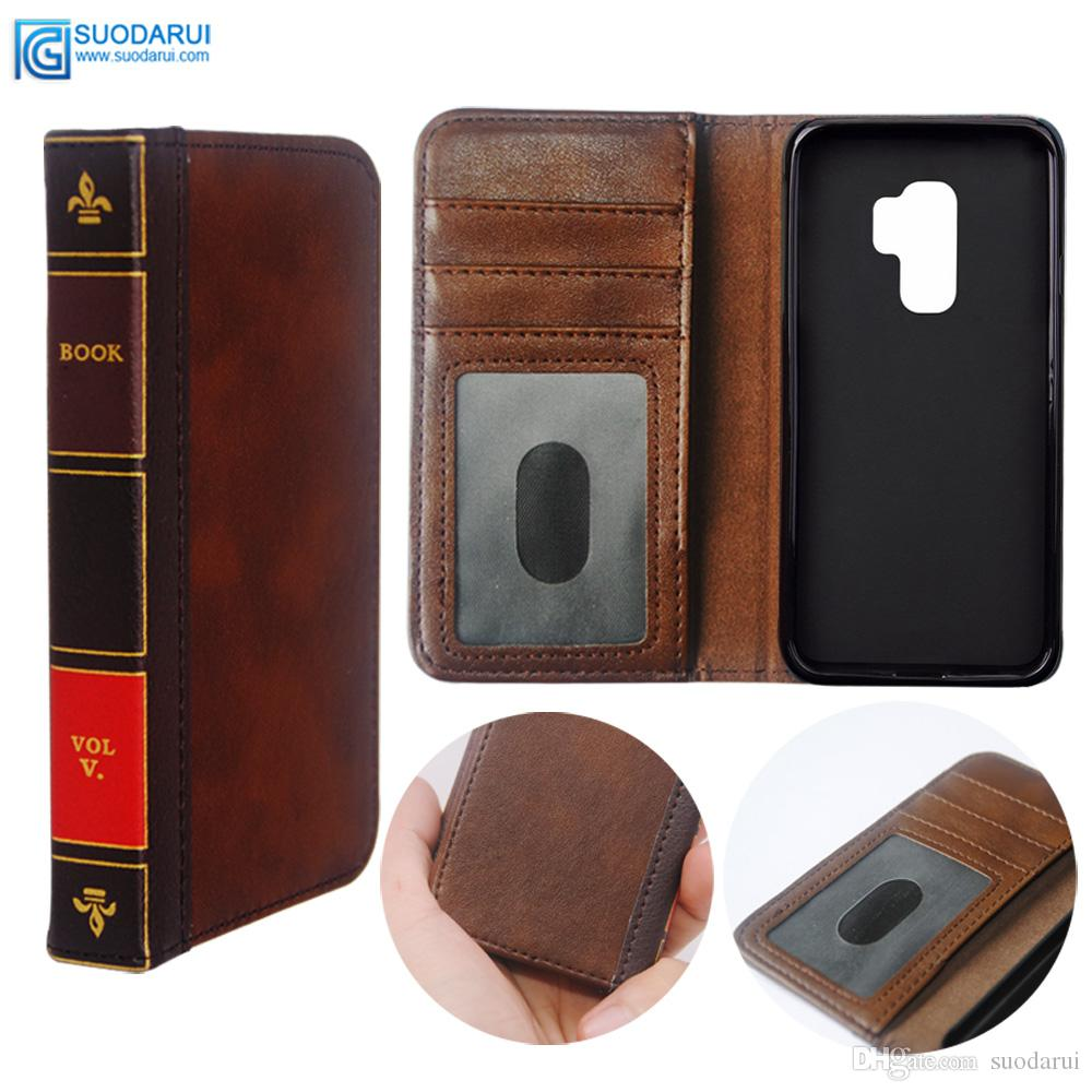 b9eae88c8450 Flip Leather Cell Phone Case For Samsung Galaxy S9 Plus Cover Wallet Retro  Bible Vintage Book Business Pouch Customize Your Own Cell Phone Case ...