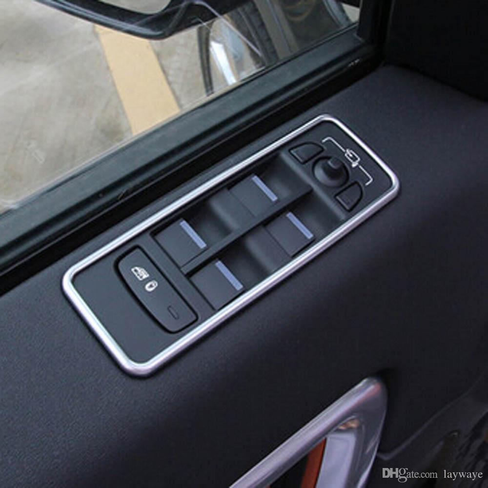 4pcs Dashboard A//C Volume Knob Trim Button Cover For Land Rover Discovery Sport