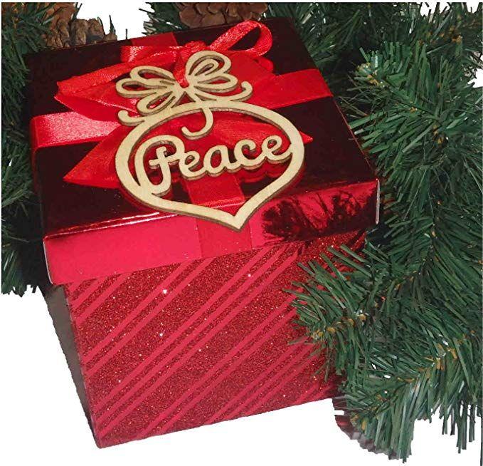 6PCS عيد ميلاد سعيد ديكورات خشبية الجوف زخرفة شجرة عيد الميلاد الشنق قلادة ديكور عيد الميلاد الديكور Enfeites