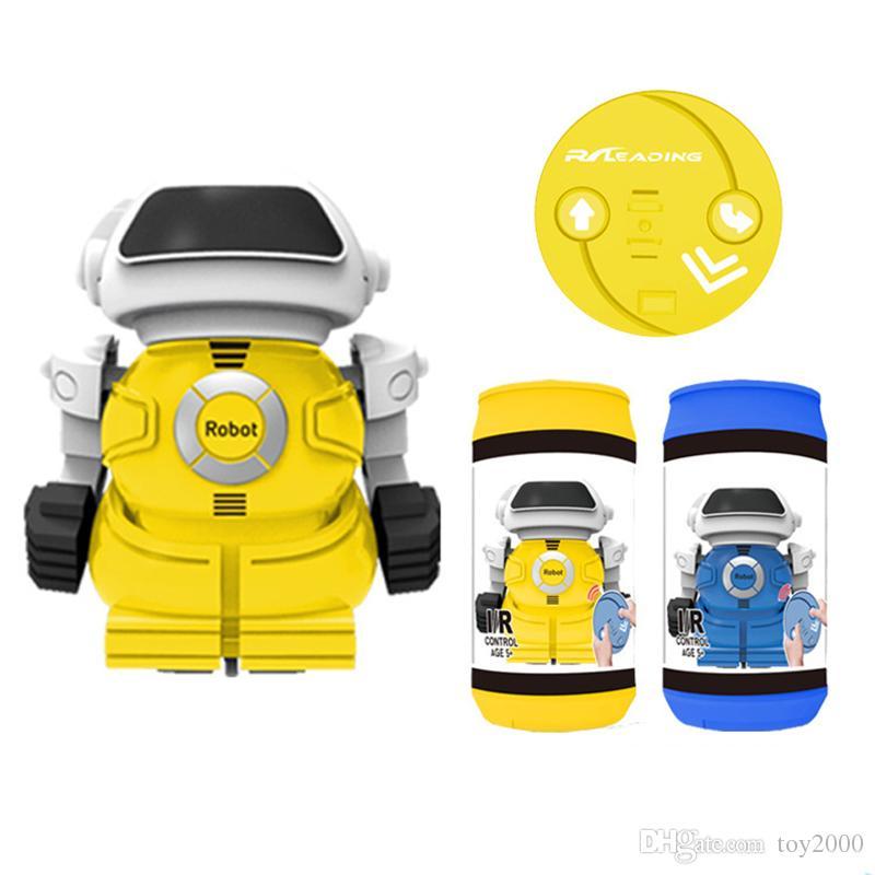 Electric Dosen Roboter mit Licht und Musik Caster schüttelte den Kopf des Kopfes Kinderspielzeug Großhandel liefern Weihnachtsgeschenke Kinderspielzeug