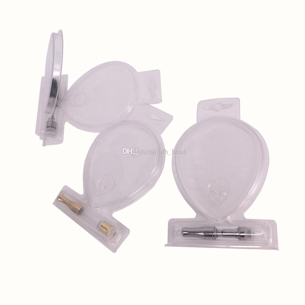 Penna vape Alien Clear Retail Clamshell Blister Confezione con foro di sospensione per G2 92a3 olio estratto Cartucce Vaporizzatore 510 Filo atomizzatore Co2
