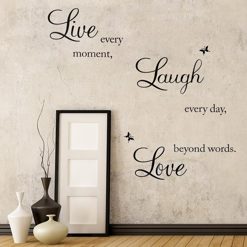 Live Love Laugh Motto Removable Waterproof Vinyl Wall Decal Pvc Home Decor Wall Stickers Bird Wall Stickers Black Wall Art Stickers From Chairdesk 4 29 Dhgate Com