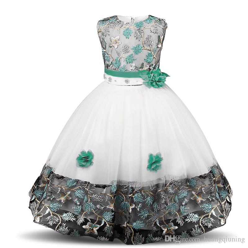 Çiçek Kız Elbise Fantezi Kız Prenses Olaylar Parti Balo elbise Çocuk Gelinlik Noel Çocuklar Kızlar Için Elbiseler Kostüm