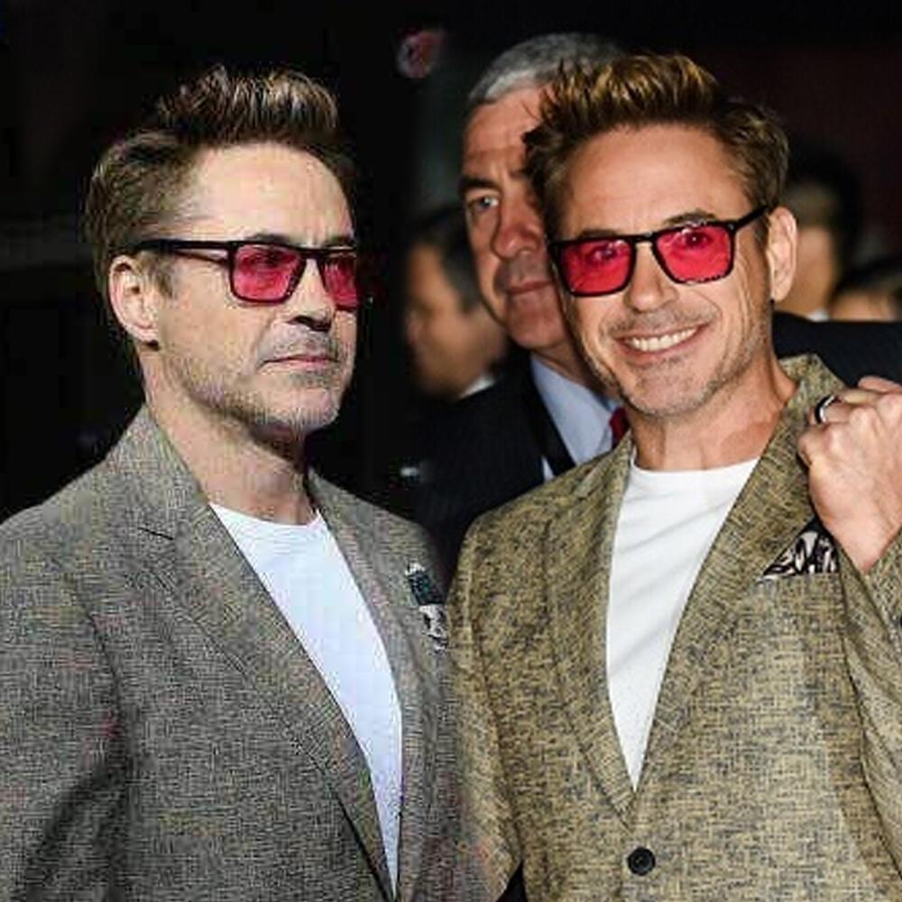 Роберт Дауни солнцезащитные очки для красных линз мода ретро мужчины солнцезащитные очки Марка дизайнер 2018 ацетат рамка с рыбалки очки
