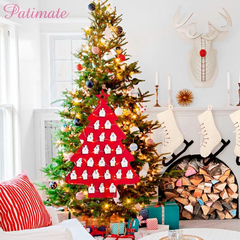 PATIMATE DIY Navidad Creativo Fieltro Artesanal Regalo Hecho A Mano Fieltro Árbol de Navidad Niños Navidad Decoraciones de Cumpleaños de Niños Habitación de los niños Decoración