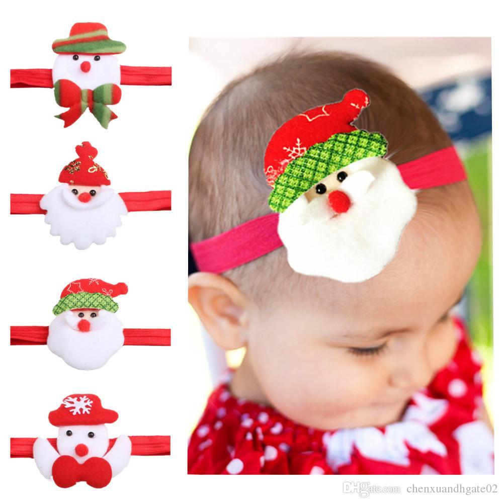 Baby Girls Toddler Bow Feather Christmas Headband Snow Flower Girl Hair Headwear Baby girl Headband baby girl hair accessories