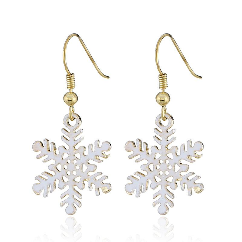 foreign trade Christmas Earrings hollowed ear cuff snowflakes Earring gifts wholesale