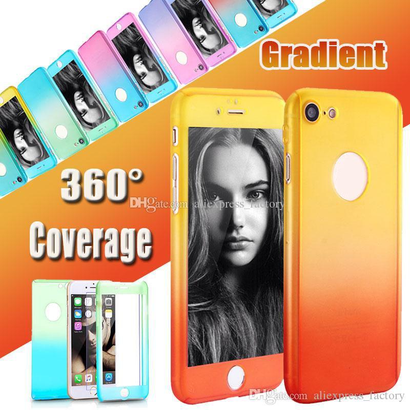 Couverture de 360 degrés de protection intégrale du corps avec protection en verre trempé pour iPhone XS Max XR X 8 7 6 6S plus 5 5S